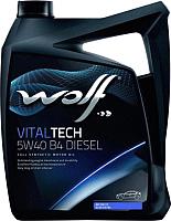 Моторное масло WOLF VitalTech 5W40 B4 Diesel / 26116/5 (5л) -