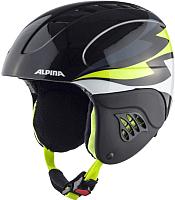 Шлем горнолыжный Alpina Sports Carat / A9035-48 (р-р 54-58, угольный/желтый) -