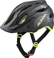 Защитный шлем Alpina Sports Carapax Jr / A9702-32 (р-р 51-56, черный/желтый) -