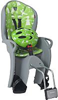 Детское велокресло Hamax Kiss Safety Package + шлем / HAM551089 (серый/зеленый) -