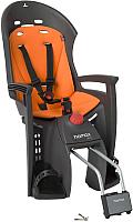 Детское велокресло Hamax Siesta With Lockable Bracket / HAM552502 (серый/оранжевый) -