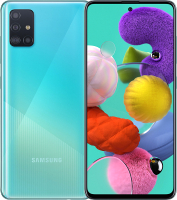 Смартфон Samsung Galaxy A51 64GB / SM-A515FZBMSER (голубой) -