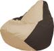 Бескаркасное кресло Flagman Груша Мега Super Г5.1-146 (светло-бежевый/коричневый) -