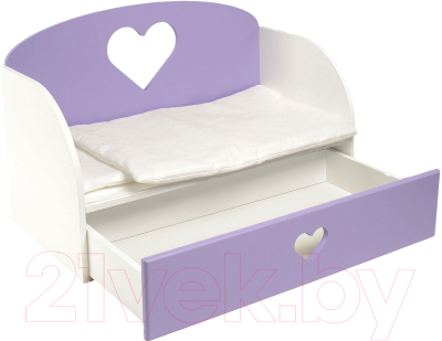Аксессуар для куклы Paremo Диван-кровать Сердце / PFD120-17