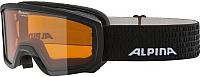 Маска горнолыжная Alpina Sports Scarabeo Jr DH S2 / A7258131 (р-р 7-14, черный) -