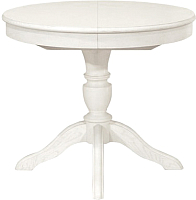 Обеденный стол Оримэкс Рондо (белая эмаль) -