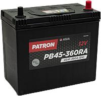Автомобильный аккумулятор Patron Asia PB45-360RA (45 А/ч) -