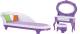 Комплект аксессуаров для кукольного домика Огонек Будуар конфетти / С-1368 -