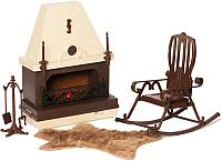 Комплект аксессуаров для кукольного домика Огонек Каминная / С-1301 -