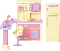 Комплект аксессуаров для кукольного домика Огонек Кухня. Маленькая принцесса / С-1437 -