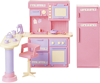 Комплект аксессуаров для кукольного домика Огонек Кухня. Маленькая принцесса / С-1436 -