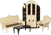 Комплект аксессуаров для кукольного домика Огонек Мебель для гостиной. Коллекция / С-1299 -