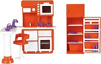 Комплект аксессуаров для кукольного домика Огонек Мебель для кухни. Конфетти / С-1339 -