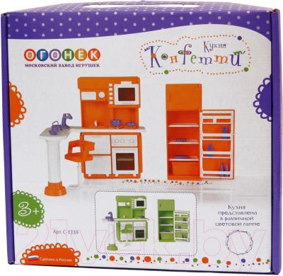 Комплект аксессуаров для кукольного домика Огонек Мебель для кухни. Конфетти / С-1339