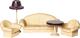Комплект аксессуаров для кукольного домика Огонек Мебель для гостиной. Коллекция / С-1302 -