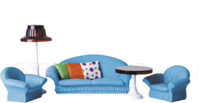 Комплект аксессуаров для кукольного домика Огонек Мебель для гостиной. Конфетти / С-1336