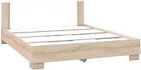 Полуторная кровать Империал Аврора 120 с основанием (дуб сонома/белый) -