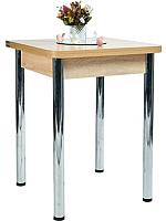 Обеденный стол Рамзес Ломберный ЛДСП 60x60 (дуб сонома светлый/ноги хром) -