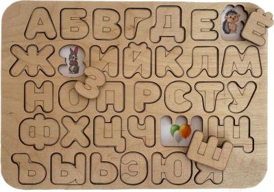 Развивающая игра Paremo Вкладыши. Алфавит с гравировкой / PE720-109