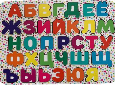 Развивающая игра Paremo Вкладыши. Алфавит с цветным принтом / PE720-110