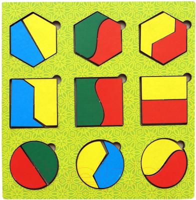 Развивающая игра Paremo Вкладыши. Геометрические фигуры / PE720-33
