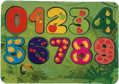 Развивающая игрушка Paremo Вкладыши. Цифры и фрукты / PE720-112