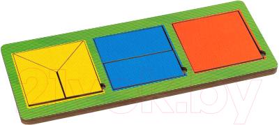 Развивающая игрушка Paremo Вкладыши 3 квадрата / PE720-27