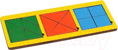 Развивающая игрушка Paremo Вкладыши 3 квадрата / PE720-28