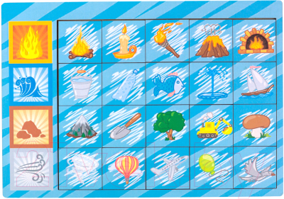 Развивающая игра Paremo Вкладыши. Логические цепочки стихии / PE720-17