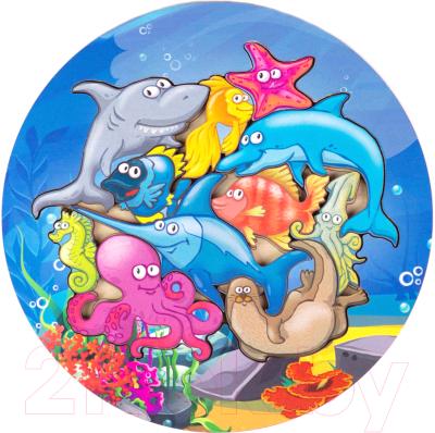 Развивающая игра Paremo Вкладыши. Морские обитатели / PE720-03
