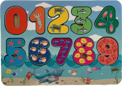 Развивающая игра Paremo Вкладыши. Цифры Морские обитатели / PE720-111
