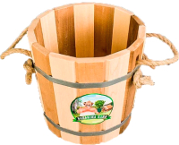 Ведро деревянное Бацькина баня Comfort Zebra термо / 30341 (10л) -