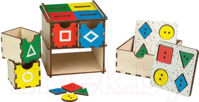 Развивающая игрушка Paremo Геометрические фигуры. Цветные / PE720-102