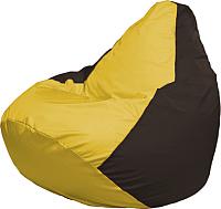 Бескаркасное кресло Flagman Груша Мега Super Г5.1-261 (желтый/коричнневый) -