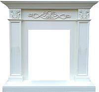 Портал для камина Смолком Verona STD (бьянко белый дуб) -