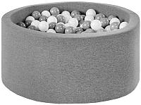 Игровой сухой бассейн Misioo 90x40 200 шаров (серый) -