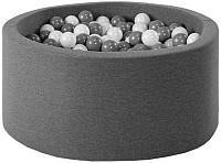 Игровой сухой бассейн Misioo 90x40 200 шаров (графитовый) -