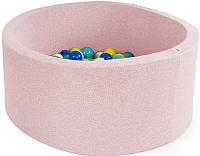 Игровой сухой бассейн Misioo 90x40 200 шаров (светло-розовый) -
