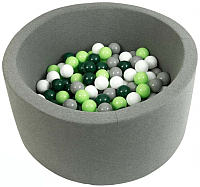 Игровой сухой бассейн Misioo 100x30 300 шаров (серый) -