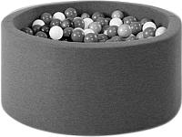 Игровой сухой бассейн Misioo 100x40 400 шаров (графитовый) -