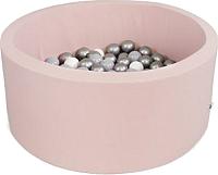 Игровой сухой бассейн Misioo 100x40 400 шаров (светло-розовый) -