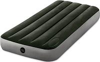 Надувной матрас Intex Downy Airbed 64760 (встроенный ножной насос) -