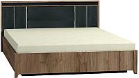 Каркас кровати Глазов Nature 306 Люкс 180 (дуб табачный Craft/черный) -