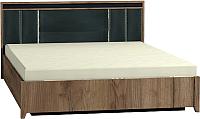 Каркас кровати Глазов Nature 307 Люкс 160x200 (дуб табачный Craft/черный) -