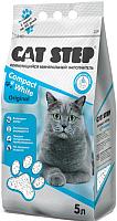 Наполнитель для туалета Cat Step Compact White Original / 20313008 (5л) -