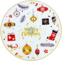 Блюдо Zibo Shelley Рождественские игрушки / S3012/2D X002 -