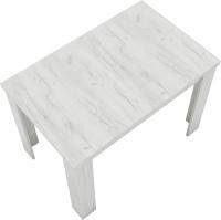 Обеденный стол ВерсоМебель СР-1 75x110-150 (дуб крафт белый) -