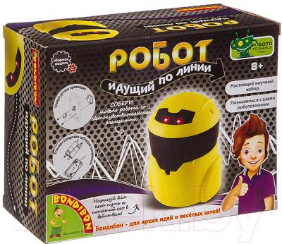 Научная игра Bondibon Французские опыты. Робот идущий по линии / ВВ3344