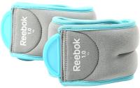 Комплект утяжелителей Reebok RAWT-11074BL (1кг, бирюзовый) -