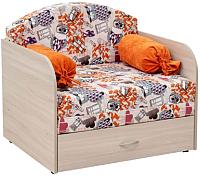 Кресло-кровать Нижегородмебель и К Антошка 1 01 85 (канваз финил манго/лайт 11) -